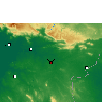 Nearby Forecast Locations - Sa Kaeo - Mapa