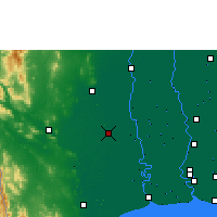 Nearby Forecast Locations - Nakhon Pathom - Mapa