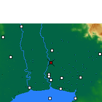 Nearby Forecast Locations - Don Mueang - Mapa