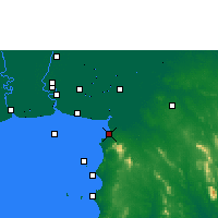 Nearby Forecast Locations - Pattaya - Mapa