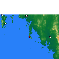 Nearby Forecast Locations - Ko Lanta - Mapa