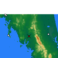 Nearby Forecast Locations - Trang - Mapa