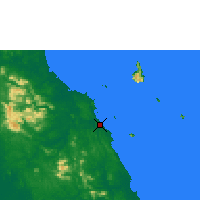 Nearby Forecast Locations - Mersing - Mapa