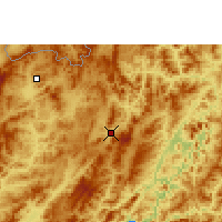Nearby Forecast Locations - Oudomxay - Mapa