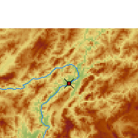 Nearby Forecast Locations - Luang Prabang - Mapa