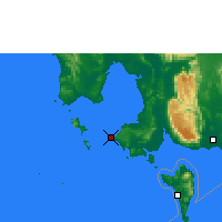 Nearby Forecast Locations - Ciudad de Sihanoukville - Mapa