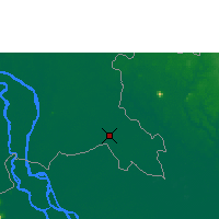 Nearby Forecast Locations - Svay Rieng - Mapa