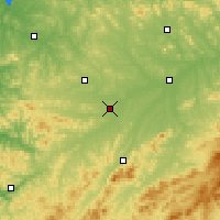 Nearby Forecast Locations - Meihekou - Mapa