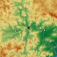 Nearby Forecast Locations - Ciudad de Tumen - Mapa