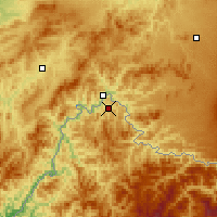 Nearby Forecast Locations - Linjiang - Mapa
