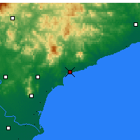 Nearby Forecast Locations - Qinhuangdao - Mapa