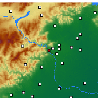 Nearby Forecast Locations - Mentougou - Mapa