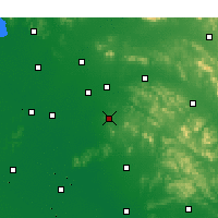 Nearby Forecast Locations - Zoucheng - Mapa