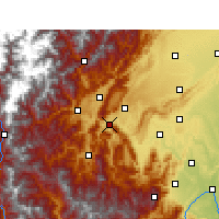 Nearby Forecast Locations - Ya'an - Mapa
