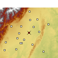 Nearby Forecast Locations - Xindu - Mapa