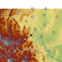 Nearby Forecast Locations - Monte Emei - Mapa