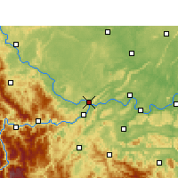 Nearby Forecast Locations - Yibin - Mapa