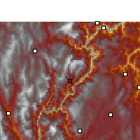 Nearby Forecast Locations - Jinyang - Mapa