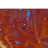 Nearby Forecast Locations - Tonghai - Mapa