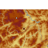 Nearby Forecast Locations - Damenglong - Mapa