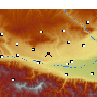 Nearby Forecast Locations - Fufeng - Mapa