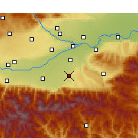 Nearby Forecast Locations - Chang'an - Mapa