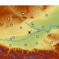 Nearby Forecast Locations - Xianyang - Mapa
