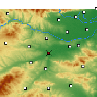 Nearby Forecast Locations - Luoyang - Mapa
