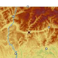 Nearby Forecast Locations - Wangcang - Mapa
