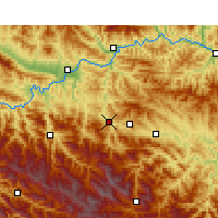 Nearby Forecast Locations - Pingli - Mapa