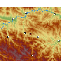 Nearby Forecast Locations - Shiyan - Mapa