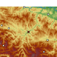 Nearby Forecast Locations - Zhushan - Mapa