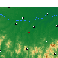 Nearby Forecast Locations - Guangshan - Mapa