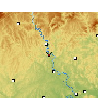 Nearby Forecast Locations - Langzhong - Mapa