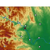 Nearby Forecast Locations - Yichang - Mapa