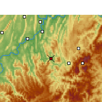 Nearby Forecast Locations - Qijiang - Mapa