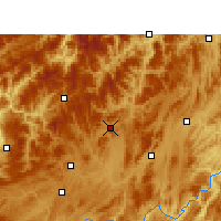 Nearby Forecast Locations - Suiyang - Mapa