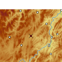 Nearby Forecast Locations - Fenggang - Mapa
