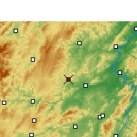 Nearby Forecast Locations - Fenghuang - Mapa
