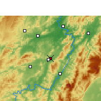 Nearby Forecast Locations - Huaihua - Mapa