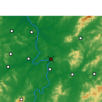 Nearby Forecast Locations - Zhuzhou - Mapa