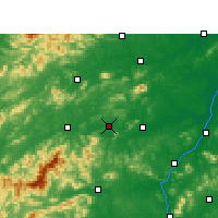 Nearby Forecast Locations - Fenyi - Mapa