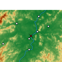 Nearby Forecast Locations - Ji'an - Mapa