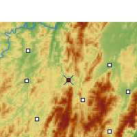 Nearby Forecast Locations - Suining/HUN - Mapa
