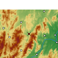 Nearby Forecast Locations - Xinning - Mapa