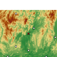 Nearby Forecast Locations - Rongshui - Mapa