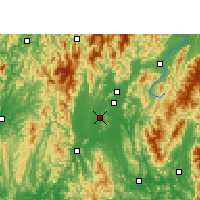 Nearby Forecast Locations - Lingui - Mapa