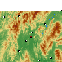 Nearby Forecast Locations - Guilin - Mapa
