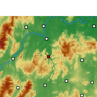 Nearby Forecast Locations - Shuangpai - Mapa