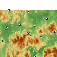 Nearby Forecast Locations - Lanshan - Mapa